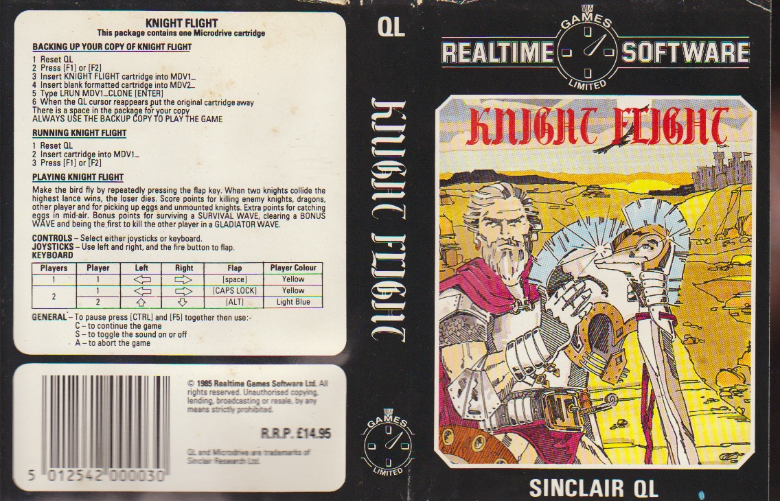 Insert for Knight Flight for Sinclair QL